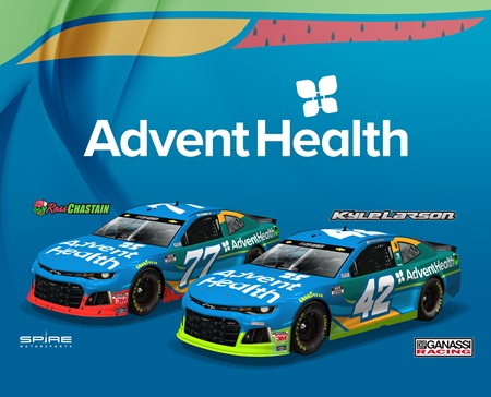 AdventHealth Grows Partnership with CGR and Kyle Larson; Adds Ross Chastain for Two Races