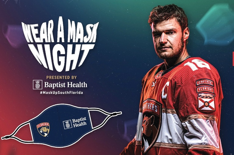 Panthers and Baptist Health Team Up For Mask Night